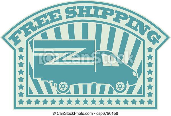 Free shipping symbol - csp6790158