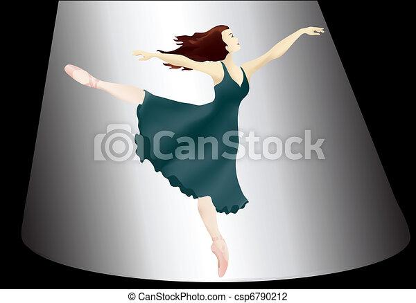 Ballerina in the spotlight - csp6790212