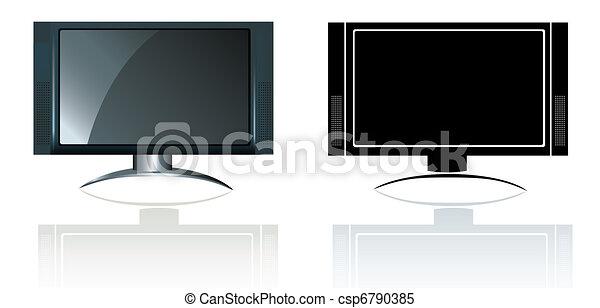 Stock de ilustrationes de moderno flatscreen widescreen for Estilo moderno definicion