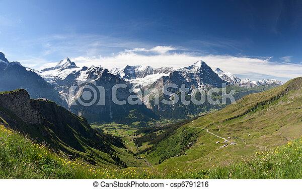 Eiger in Alps, Switzerland - csp6791216
