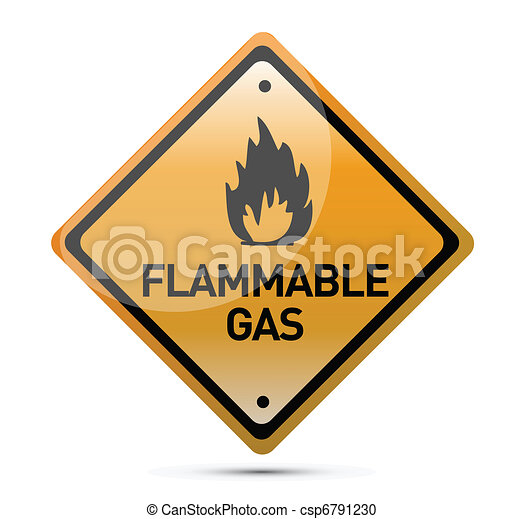 Flammable Gas Hazard Warning Sign - csp6791230