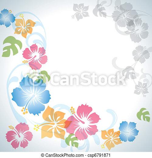 Summer flowers background - csp6791871
