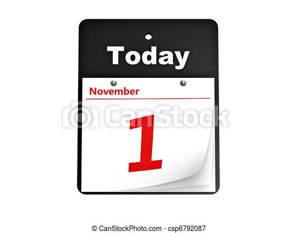 tear-off day calendar - csp6792087