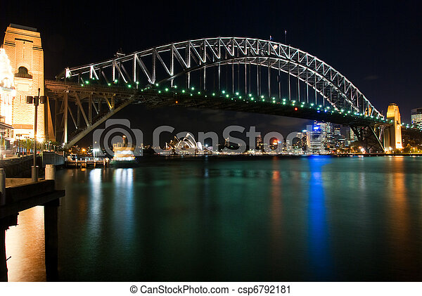 Sydney Harbour Bridge By Night - csp6792181