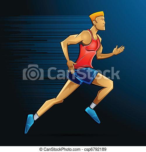 Male Runner - csp6792189