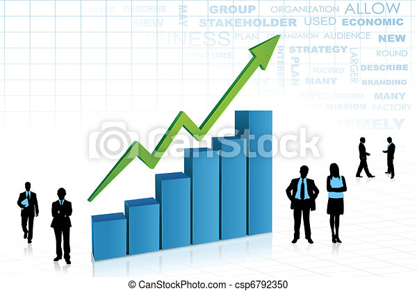 Business People aorund Bar Graph - csp6792350