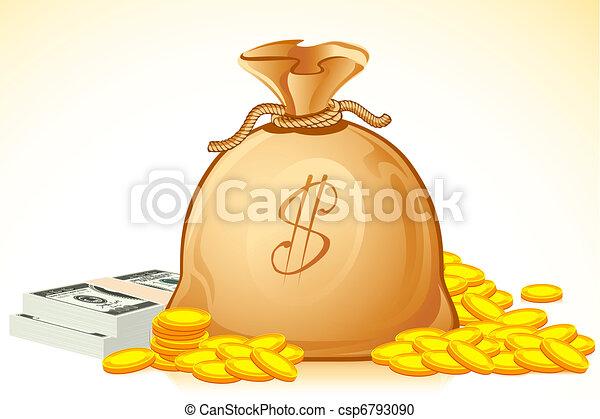 Bag Full of Money - csp6793090