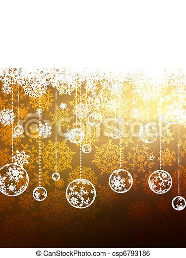 Elegant Gold Christmas Background. EPS 8 - csp6793186