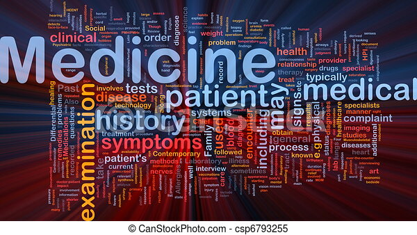 Medicine health background concept glowing - csp6793255