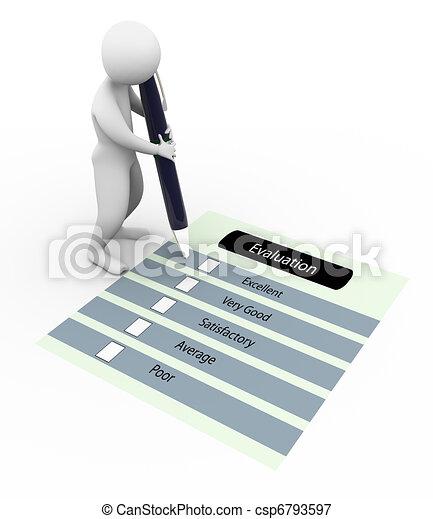 3d man and evaluation questionnaire - csp6793597