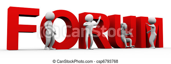 3d men forum discussion - csp6793768