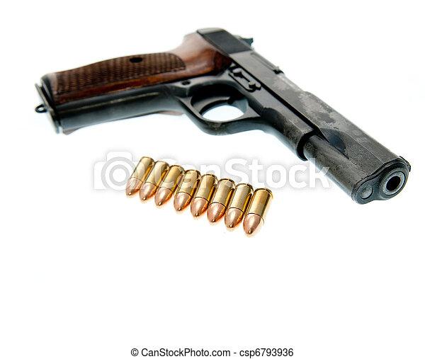 Weapon - Gun isolated on white background - csp6793936
