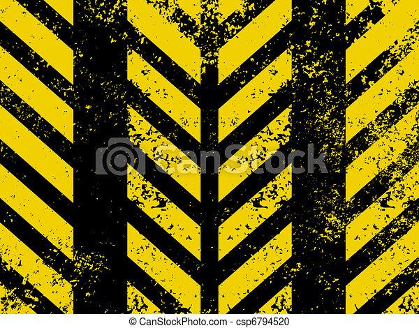 Diagonal hazard stripes texture. EPS 8 - csp6794520