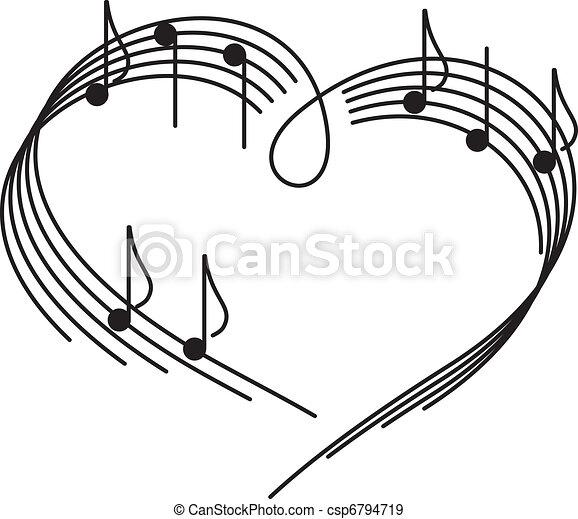kärlek, musik - csp6794719