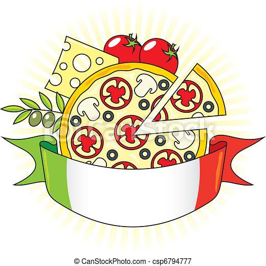 ... pizza, à, les,... csp6794777 - Recherchez des Images Graphiques Clip