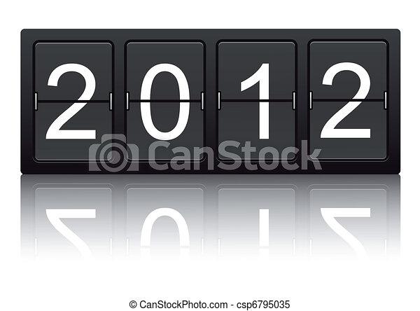Year Change 2011/2012 - csp6795035