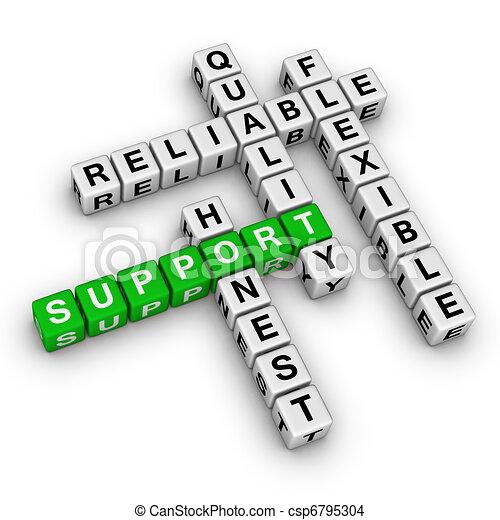 support crossword puzzle - csp6795304