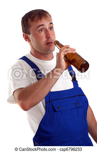 工作, 小時, 啤酒, 瓶子, 在期間, 技術工... 技術工人, 喝酒, a, 瓶子, ...