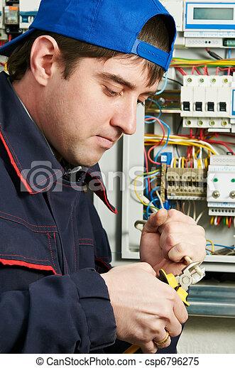 eletricista, trabalho - csp6796275