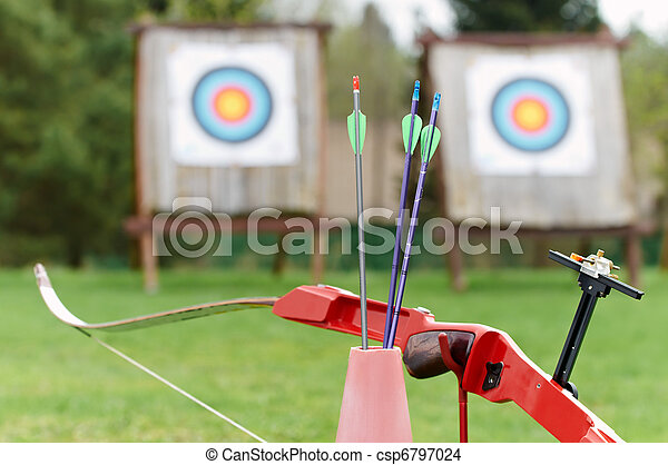 Archery equipment - bow arrows target - csp6797024