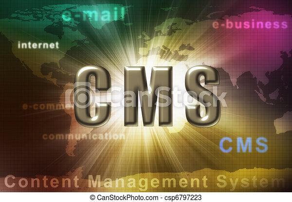 CMS - content management system - csp6797223