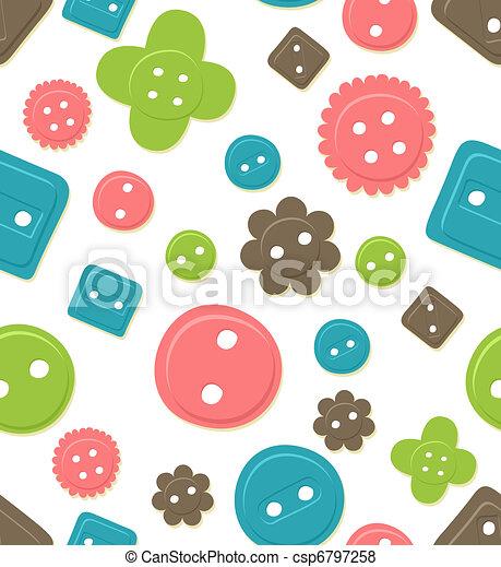 Seamless button pattern - csp6797258