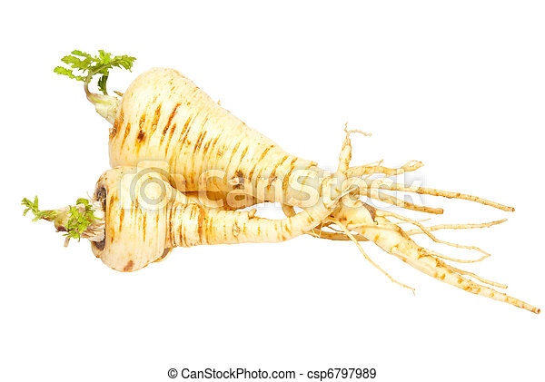 Parsnip isolated on white. - csp6797989