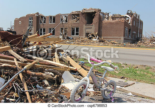 Tornado Damaged Elementary School - csp6798853