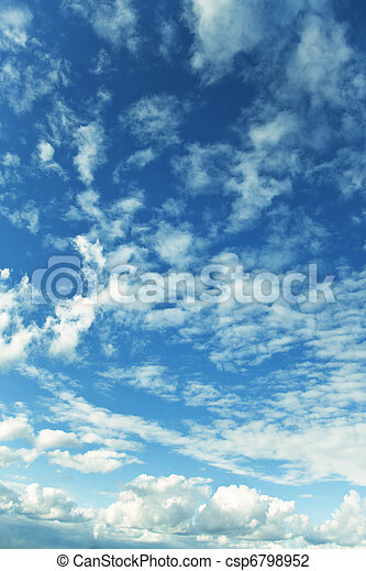 blue sky with clouds - csp6798952
