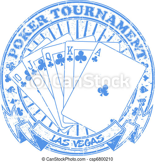 Poker tournament stamp - csp6800210