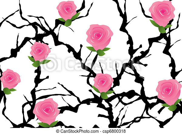 Blackthorn Tree Drawing Vector Blackthorn Bush With