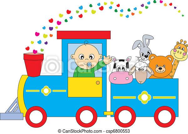 children\'s train animals  - csp6800553