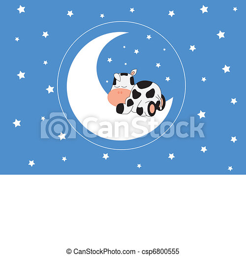 cow sleeping on the moon - csp6800555
