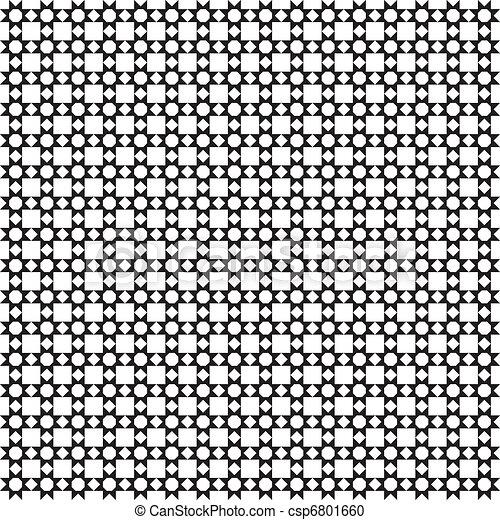Seamless squares and diamonds holes arabesque - csp6801660