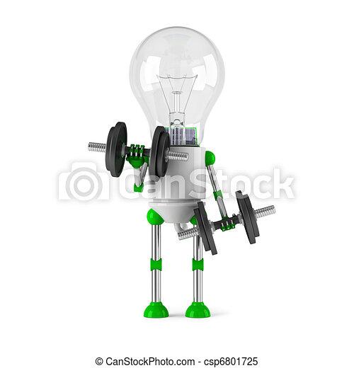 solar powered light bulb robot - fitness - csp6801725