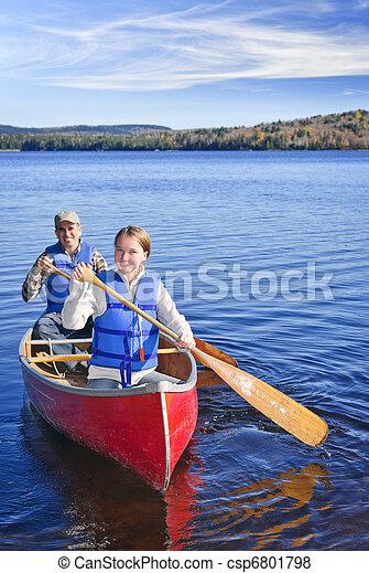 Family canoe trip - csp6801798