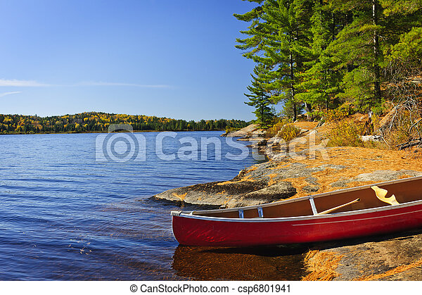 Canoe on shore - csp6801941