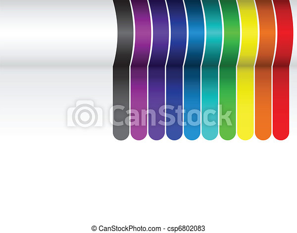 Colorful Lines Background on White - csp6802083