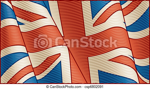 Vintage British Flag (close-up) - csp6802091