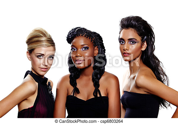 fashion women of different races - csp6803264