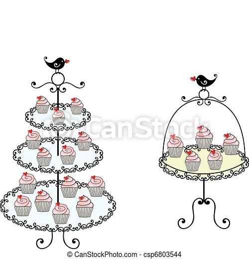 Small Cupcakes Drawings Vector Cute Cupcakes