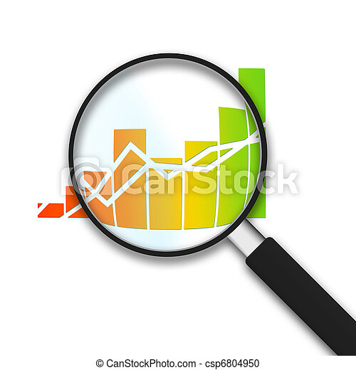 Magnifying Glass - Business Graph - csp6804950