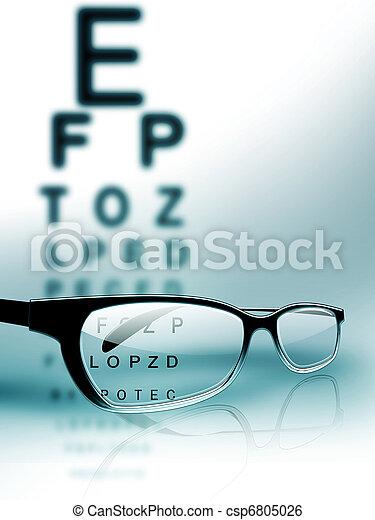 teste, olho - csp6805026