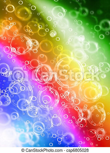 bubbles on rainbow - csp6805028