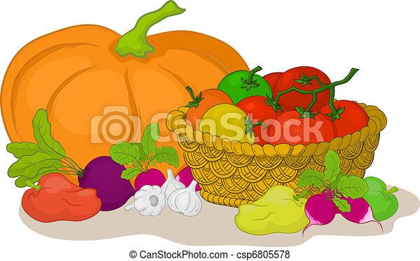 Vegetables, still life - csp6805578