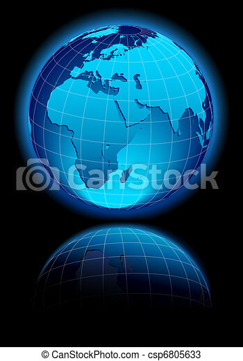 WORLD Middle East, Africa, Europe - csp6805633