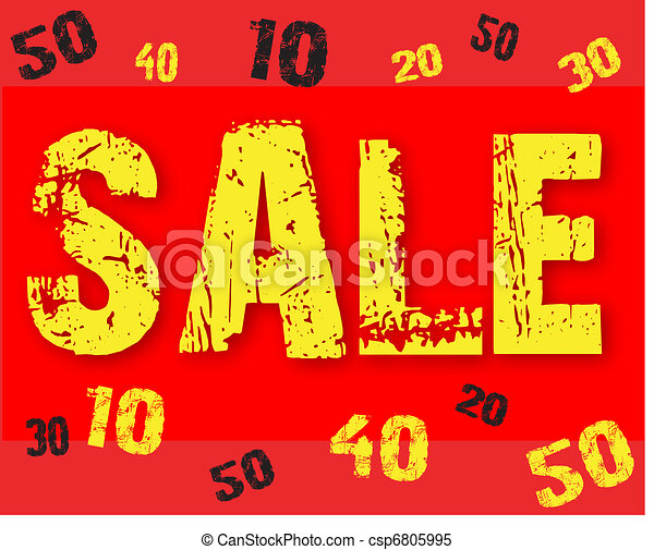 The text sale 10, 20, 30, 40, 50 - csp6805995