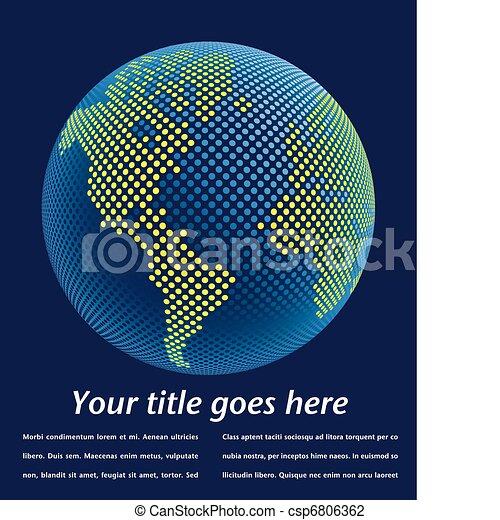 Digital world design.  - csp6806362