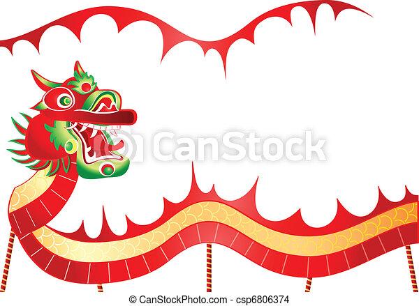 Chinese dancing dragon - csp6806374
