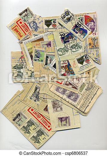 Czechslovakia stamps from the 50s - csp6806537